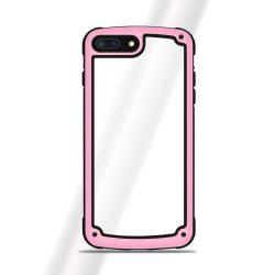 Solid Frame PC tok telefon tok hátlap TPU bumper iPhone 8 Plus / 7 Plus pink
