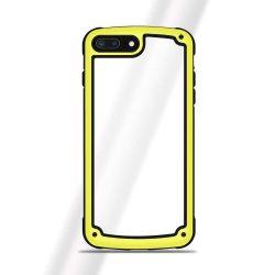 Solid Frame PC tok telefon tok hátlap TPU bumper Samsung Galaxy S9 G960 sárga