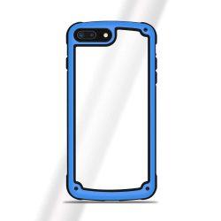 Solid Frame PC telefon tok telefontok (hátlap) TPU bumper Samsung Galaxy A7 2018 A750 kék