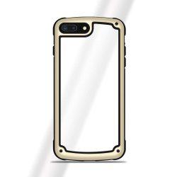 Solid Frame PC telefon tok telefontok (hátlap) TPU bumper Samsung Galaxy A7 2018 A750 arany