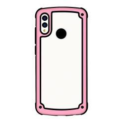 Solid Frame PC tok TPU Bumper tok Huawei Y7 2019 / Y7 Prime 2019 rózsaszín telefon tok telefontok