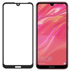 Wozinsky edzett üveg FullGlue Super Tough képernyővédő fólia Teljes Coveraged kerettel telefon tok telefontok (hátlap) tok barát Huawei Y5 2019 fekete kijelzőfólia üvegfólia tempered glass