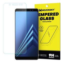 Wozinsky edzett üveg 9H képernyővédő fólia Samsung Galaxy A8 2018 A530 (csomagolás - boríték) kijelzőfólia üvegfólia tempered glass
