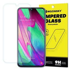 Wozinsky edzett üveg 9H képernyővédő fólia Samsung Galaxy A40 (csomagolás - boríték) kijelzőfólia üvegfólia tempered glass