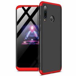 GKK 360 Protection Case Első és hátsó tok az egész testet fedő Huawei P30 Lite fekete - piros tok telefon tok hátlap