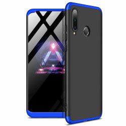 GKK 360 Protection Case Első és hátsó tok az egész testet fedő Huawei P30 Lite fekete - kék tok telefon tok hátlap