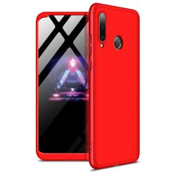 GKK 360 Protection Case Első és hátsó tok az egész testet fedő Huawei P30 Lite piros tok telefon tok hátlap