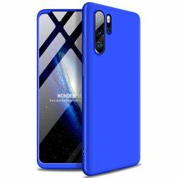 GKK 360 Protection Case Első és hátsó tok az egész testet fedő Huawei P30 Pro kék tok telefon tok hátlap