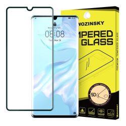 Wozinsky edzett üveg 5D Teljes Glue Super Tough képernyővédő fólia Teljes Coveraged kerettel Huawei P30 Pro fekete kijelzőfólia üvegfólia tempered glass