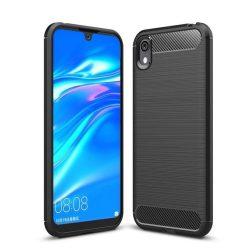 Carbon Case rugalmas Cover TPU tok Huawei S5 2019 / Honor 8S fekete tok telefon tok hátlap