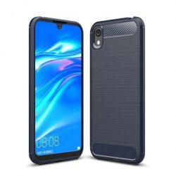 Carbon Case rugalmas Cover TPU tok Huawei S5 2019 / Honor 8S kék tok telefon tok hátlap