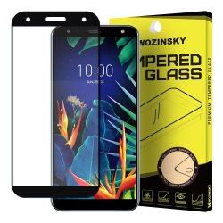 Wozinsky edzett üveg Teljes Glue Super Tough képernyővédő fólia Teljes Coveraged kerettel Case - barát LG K40 X420 fekete kijelzőfólia üvegfólia tempered glass