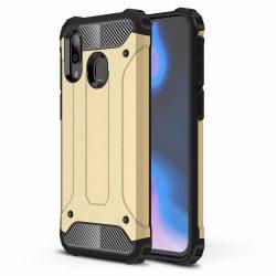 Hibrid Armor Case Kemény Robusztus Cover Samsung Galaxy A40 arany tok telefon tok hátlap