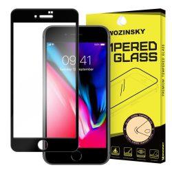 Wozinsky edzett üveg FullGlue Super Tough képernyővédő fólia Teljes Coveraged kerettel tok barát iPhone 8/7 fekete kijelzőfólia üvegfólia tempered glass
