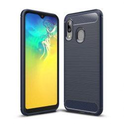 Carbon Case rugalmas Cover TPU tok Samsung Galaxy A20e kék tok telefon tok hátlap
