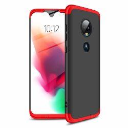 GKK 360 Protection Case Első és hátsó tok az egész testet fedő Motorola Moto G7 fekete - piros telefon tok telefontok
