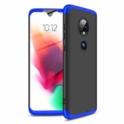 GKK 360 Protection Case Első és hátsó tok az egész testet fedő Motorola Moto G7 fekete - kék telefon tok telefontok