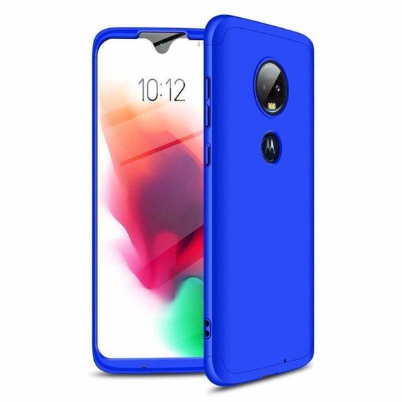 GKK 360 Protection Case Első és hátsó tok az egész testet fedő Motorola Moto G7 kék telefon tok telefontok
