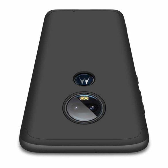 GKK 360 Protection Case Első és hátsó tok az egész testet fedő Motorola Moto G7 fekete telefon tok telefontok