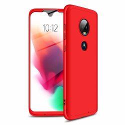 GKK 360 Protection Case Első és hátsó tok az egész testet fedő Motorola Moto G7 piros telefon tok telefontok
