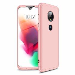 GKK 360 Protection Case Első és hátsó tok az egész testet fedő Motorola Moto G7 rózsaszín telefon tok telefontok