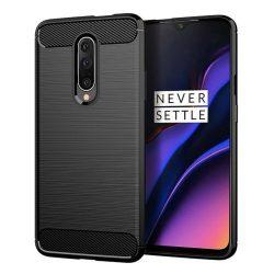 Carbon Case rugalmas Cover TPU tok OnePlus 7 Pro fekete tok telefon tok hátlap