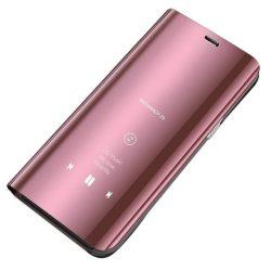 Clear View tok Samsung Galaxy A20e rózsaszín telefon tok telefontok