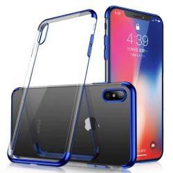 Clear Color Gel Case TPU Galvanizált keret Cover Samsung Galaxy A40 kék tok telefon tok hátlap