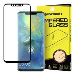 Wozinsky edzett üveg 5D FullGlue Super Tough képernyővédő fólia Teljes Coveraged kerettel Huawei Mate 20 Pro fekete kijelzőfólia üvegfólia tempered glass