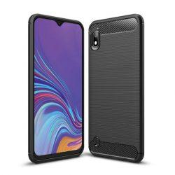 Carbon Case rugalmas Cover TPU tok Samsung Galaxy A10 fekete tok telefon tok hátlap
