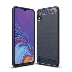 Carbon Case rugalmas Cover TPU tok Samsung Galaxy A10 kék tok telefon tok hátlap