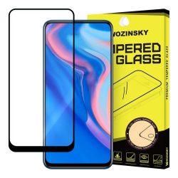 Wozinsky edzett üveg Teljes Glue Super Tough képernyővédő fólia Teljes Coveraged kerettel Case barát Huawei P Smart Z fekete kijelzőfólia üvegfólia tempered glass