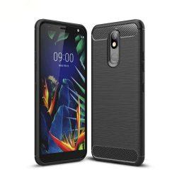 Carbon Case rugalmas Cover TPU tok LG K40 X420 fekete tok telefon tok hátlap