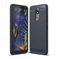 Carbon Case rugalmas Cover TPU tok LG K40 X420 kék tok telefon tok hátlap