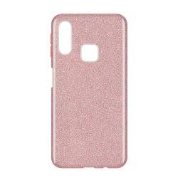 Wozinsky Glitter Case Fényes Cover Samsung Galaxy A40 világos rózsaszín tok telefon tok hátlap