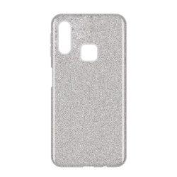 Wozinsky Glitter Case Fényes Cover Samsung Galaxy A40 ezüst tok telefon tok hátlap