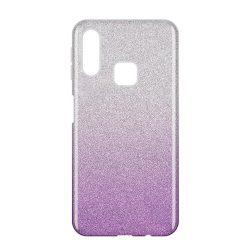 Wozinsky Glitter Case Fényes Cover Samsung Galaxy A40 lila tok telefon tok hátlap
