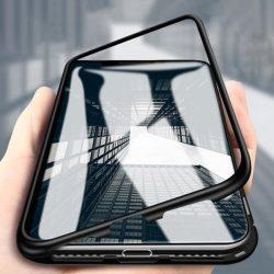 Wozinsky Mágneses Case Full Body Első és hátsó tok Samsung Galaxy A70 fekete tok telefon tok hátlap