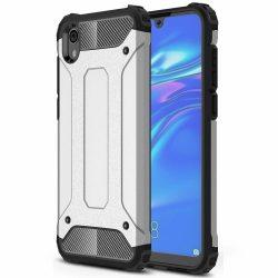 Hibrid Armor Case Kemény Robusztus Cover Huawei Y5 2019 / Honor 8S ezüst tok telefon tok hátlap