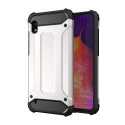 Hibrid Armor Case Kemény Robusztus Cover Samsung Galaxy A10 ezüst tok telefon tok hátlap