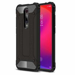 Hibrid Armor Case Kemény Robusztus Fedél Xiaomi Mi 9T Pro / Mi 9T fekete telefon tok telefontok
