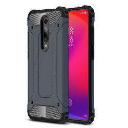 Hibrid Armor Case Kemény Robusztus Fedél Xiaomi Mi 9T Pro / Mi 9T kék telefon tok telefontok