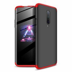 GKK 360 Protection Case Első és hátsó tok az egész testet fedő OnePlus 7 Pro fekete - piros telefon tok telefontok