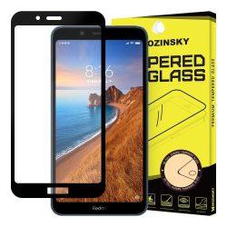 Wozinsky edzett üveg Teljes Glue Super Tough képernyővédő fólia Teljes Coveraged kerettel Case barátságos Xiaomi redmi 7A fekete kijelzőfólia üvegfólia tempered glass