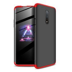 GKK 360 Protection Case Első és hátsó tok az egész testet fedő OnePlus 7 fekete - piros telefon tok telefontok (hátlap)