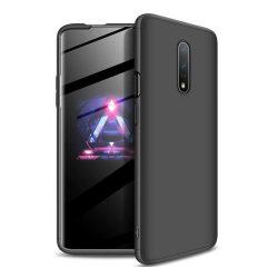GKK 360 Protection Case Első és hátsó tok az egész testet fedő OnePlus 7 fekete telefon tok telefontok (hátlap)