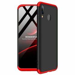 GKK 360 Protection Case Első és hátsó tok az egész testet fedő Samsung Galaxy A40 fekete - piros tok telefon tok hátlap