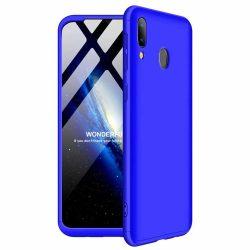 GKK 360 Protection Case Első és hátsó tok az egész testet fedő Samsung Galaxy A40 kék tok telefon tok hátlap