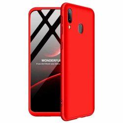 GKK 360 Protection Case Első és hátsó tok az egész testet fedő Samsung Galaxy A40 piros tok telefon tok hátlap
