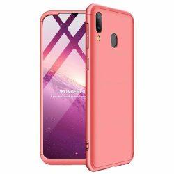 GKK 360 Protection Case Első és hátsó tok az egész testet fedő Samsung Galaxy A40 rózsaszín tok telefon tok hátlap